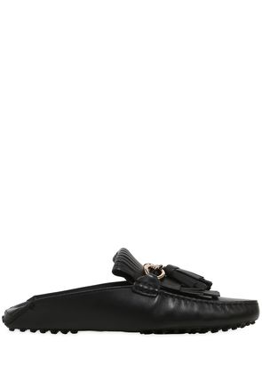 GOMMINO CHAIN & TASSELS LEATHER LOAFERS