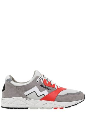 ARIA FAUX SUEDE & NYLON SNEAKERS