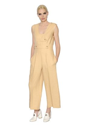 LINEN JUMPSUIT WITH STRAPS