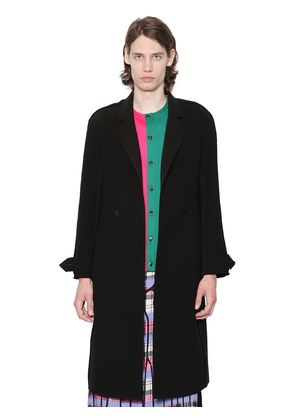 DOUBLE BREASTED BONDED CREPE COAT