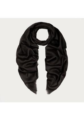 Bally Stole In Cashmere Voile Black, Women's cashmere shawl in black