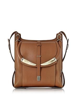 Roberto Cavalli - Horn Walnut Leather Shoulder Bag