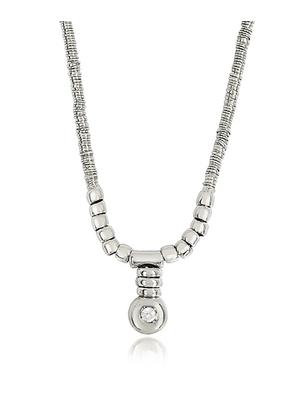 Orlando Orlandini - White Gold Chain Snake Necklace w/Diamond