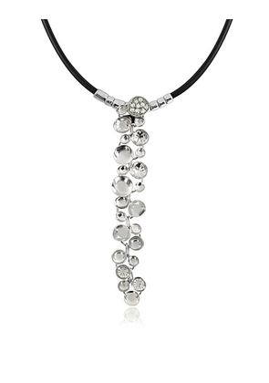 Orlando Orlandini - White Gold Cascade Pendant Necklace w/Diamond