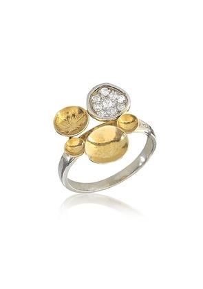 Orlando Orlandini - 18K Yellow Gold Ring w/Diamond