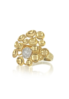 Orlando Orlandini - 18K Yellow Gold Bouquet Ring w/Diamond