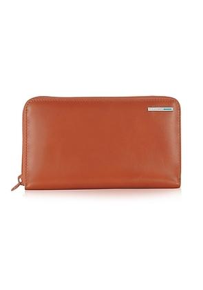 Piquadro - Blue Square - Zip Around Leather Wallet