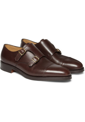 John Lobb - William Leather Monk-strap Shoes - Brown