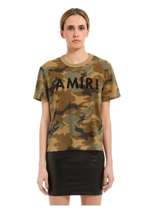 DESTROYED CAMO PRINT JERSEY T-SHIRT