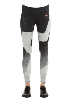 CROSSFIT PRINTED MICROFIBER LEGGINGS