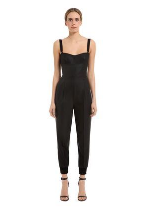 STRETCH COOL WOOL & SILK CREPE JUMPSUIT