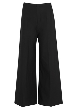 Spanel cropped cotton blend trousers
