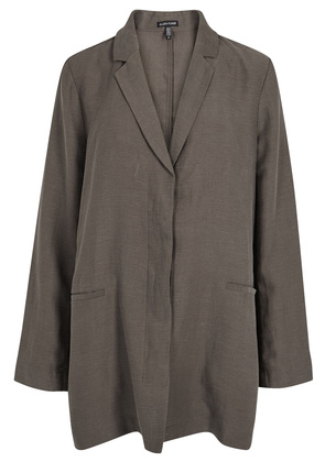 Brown Tencel and linen blend jacket