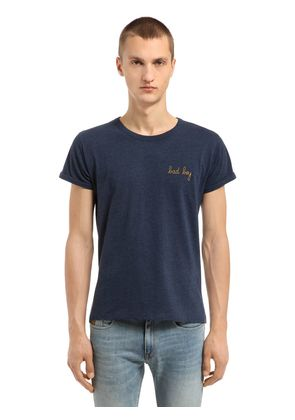 BAD BOY EMBROIDERED JERSEY T-SHIRT