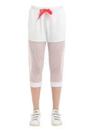 MESH & COTTON FRENCH TERRY SWEATPANTS