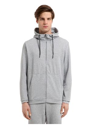STRUCTURE HOODED MID LAYER SWEATSHIRT