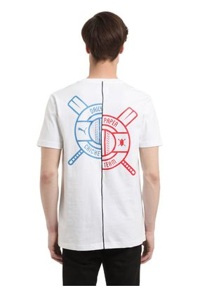 DAILY PAPER PRINTED COTTON T-SHIRT