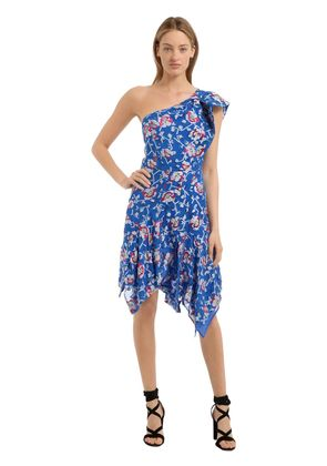 LAMINATED FLORAL JACQUARD DRESS