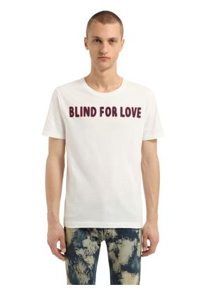 BLIND FOR LOVE COTTON JERSEY T-SHIRT