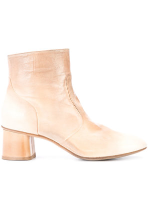 Silvano Sassetti - round toe ankle boots - women - Leather - 40, Nude/Neutrals