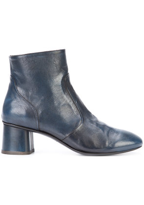 Silvano Sassetti - almond toe ankle boots - women - Leather - 37.5, Blue