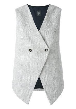 Eleventy - sleeveless gilet - women - Cotton/Polyamide/Acetate/Viscose - 44, Grey