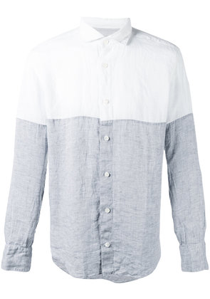 Eleventy - Dandy shirt - men - Linen/Flax - 40, Grey
