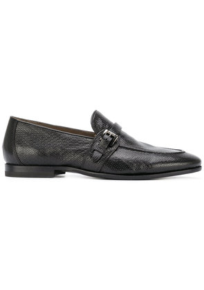 Silvano Sassetti - buckled loafers - men - Leather/Calf Hair/Foam Rubber - 11, Black