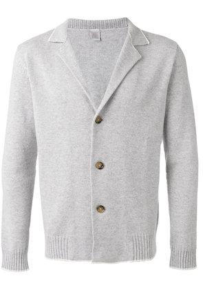 Eleventy - ribbed collar cardigan - men - Cashmere - XL, Grey