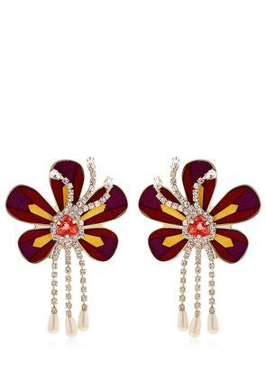 ALCANTARA FLOWER EARRINGS
