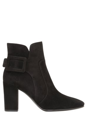 85MM POLLY SUEDE ANKLE BOOTS