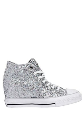 80MM ALL STAR GLITTERED CANVAS SNEAKERS