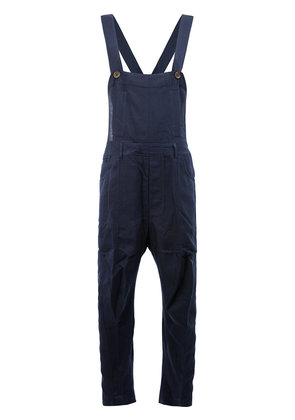 Song For The Mute - loose fit dungarees - men - Cotton/Polyester/Rayon - 50, Blue