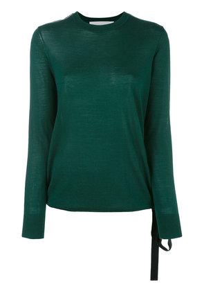 Victoria Victoria Beckham - round neck jumper - women - Cotton/Polyester/Viscose/Wool - 8, Green