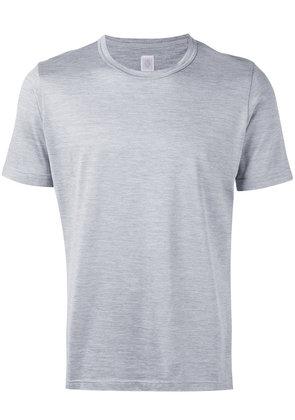 Eleventy - classic crewneck T-shirt - men - Silk/Cotton - M, Grey
