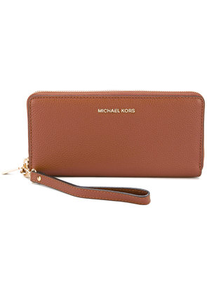 Michael Michael Kors - zip around continental wallet - women - Leather - One Size, Nude/Neutrals