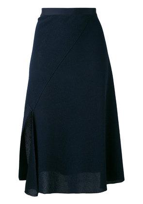 Victoria Beckham - wrap style skirt - women - Cotton/Polyamide/Viscose - 2, Blue