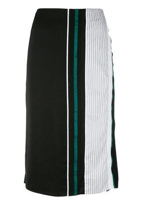 Victoria Victoria Beckham - asymmetric front skirt - women - Silk/Cotton/Spandex/Elastane/Viscose - 12, Black