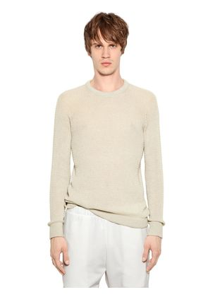 COTTON & CASHMERE OPEN WEAVE SWEATER