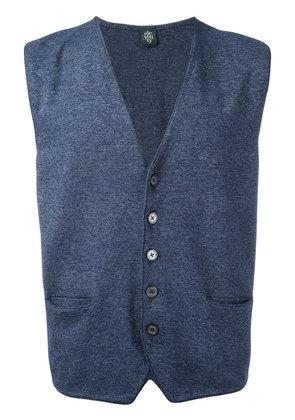 Eleventy - sleeveless cardigan - men - Cotton - L, Blue