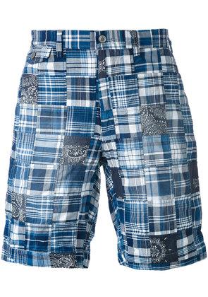 Polo Ralph Lauren - plaid pattern shorts - men - Cotton - 32, Blue