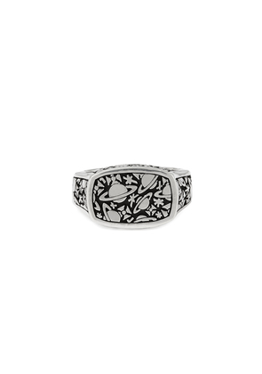 Vivienne Westwood Sterling Silver Angelo Ring Oxidised Rhodium size S