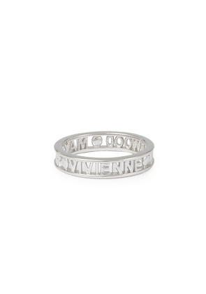 Vivienne Westwood Sterling Silver Westminster Ring Rhodium size XS