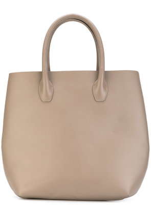 Eleventy - large flat tote - women - Leather - One Size, Nude/Neutrals