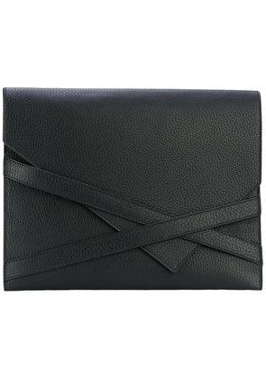 Eleventy - envelope clutch bag - women - Leather - One Size, Black