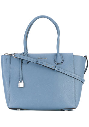 Michael Michael Kors - Mercer large tote - women - Calf Leather - One Size, Blue